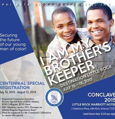 Phi Beta Sigma Fraternity 2015 Conclave Flyer