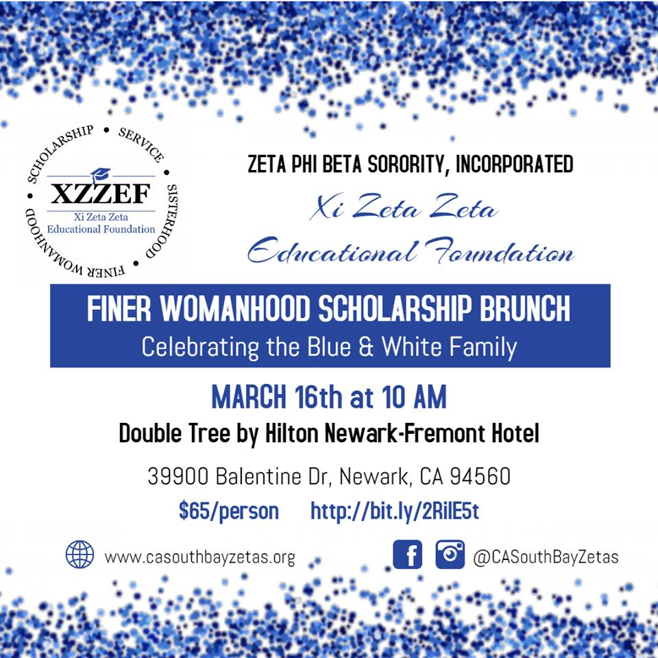 Xi Zeta Zeta Finer Womanhood Scholarship Brunch